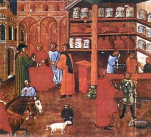 pharmacy assistants in the Renaissance